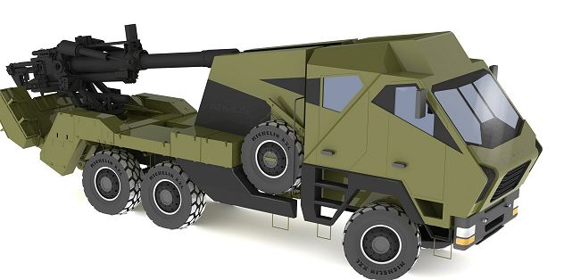 Atmos Soltam 155 Mm Wheeled Self Propelled Howitzer Truck