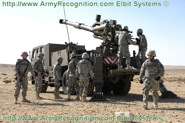 ATMOS Soltam 155 mm wheeled self-propelled howitzer ...