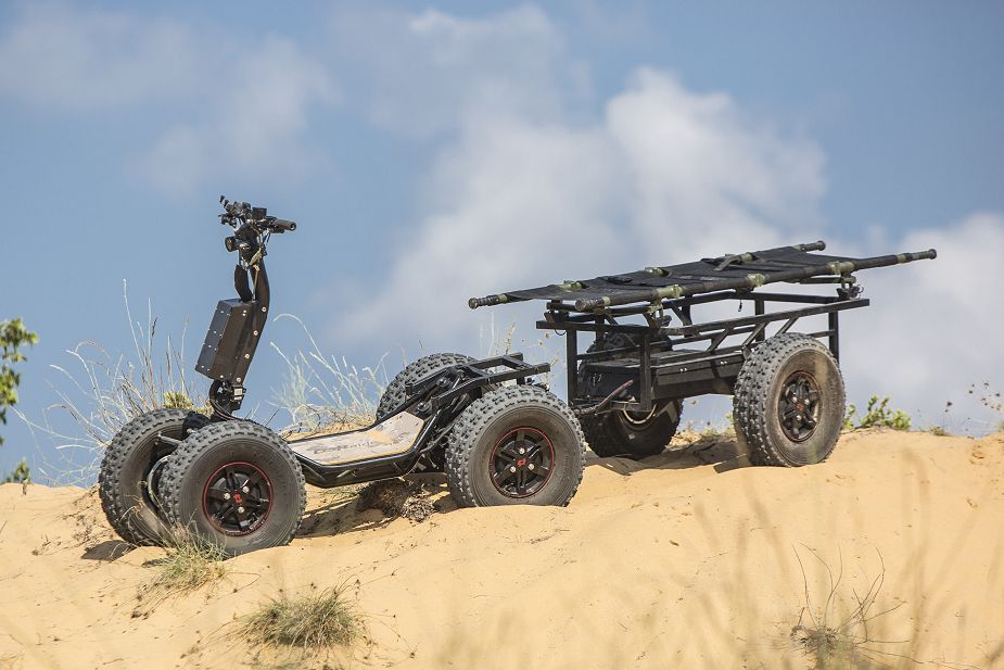 DSRaider presents new electric powered 4x4 all terrain vehicle EZRaider ISDEF 2019 Israel 925 002