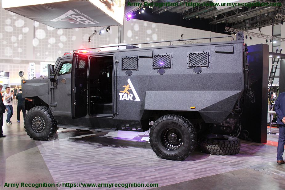 INKAS Canada showcases its Superior 4x4 APC vehicle ISDEF 2019 defense exibition Israel 925 002