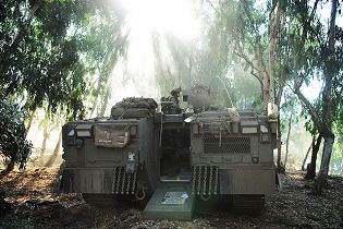 Namer infantry tracked armoured vehicle personnel carrier Israeli Army Israel rear back view 003
