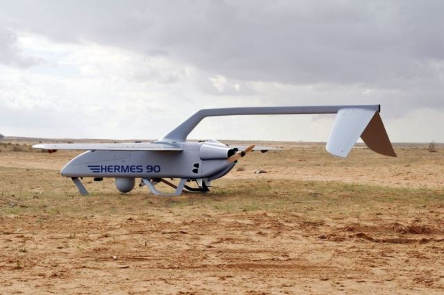 Hermes 90 UAV unmanned aerial aircraft vehicle system technical data sheet information specifications description identification intelligence pictures photos images engineering Israel Israeli Elbit Systems