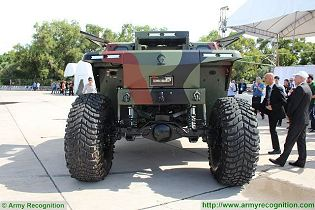 CombatGuard 4x4 combat armoured vehicle personnel carrier Israel Israeli army military rear side view 002