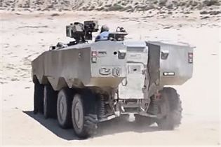 Eitan 8x8 APC armoured vehicle personnel carrier technical data sheet specifications information description pictures photos images intelligence identification Israel Israeli weapon industries army defence industry military technology