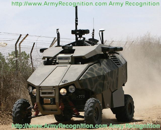 Guardium UGV is an autonomous observation and target interception system, developed and produced in Israel. It is based on a TOMCAR chassis, capable of carrying payloads of up to 300 kg including a vast array of electronic instruments, armor and different weapons systems.