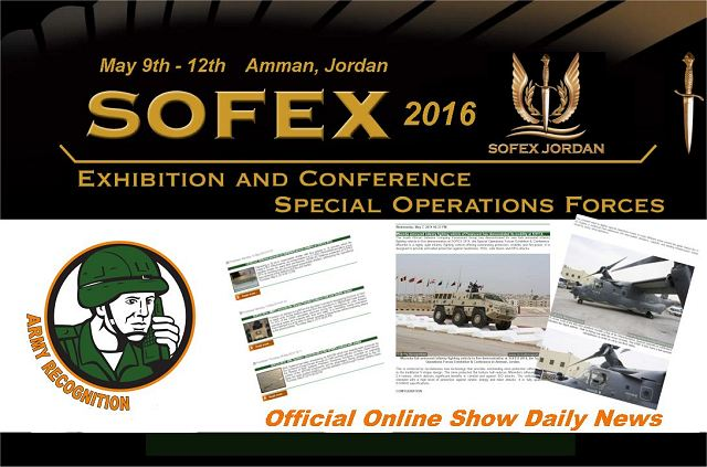 Army Recognition appointed by SOFEX 2016 organizers Official Online Show Daily and Official Web TV 640 001