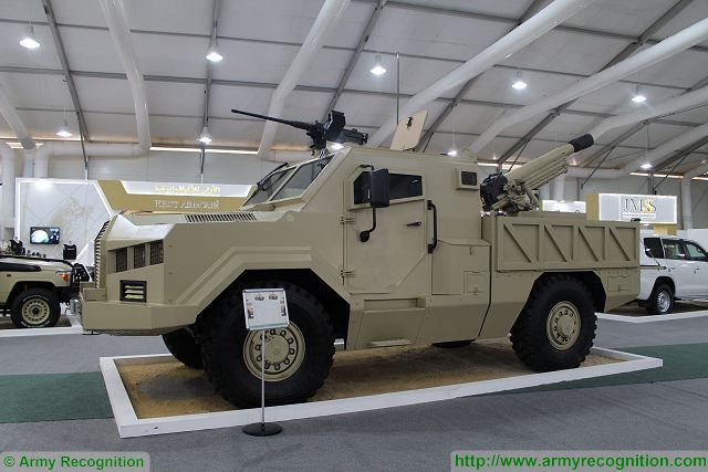 Al-Wahsh 105mm 4x4-wheeled self-propelled gun SOFEX 2016 Special Operations Forces Exhibition 001
