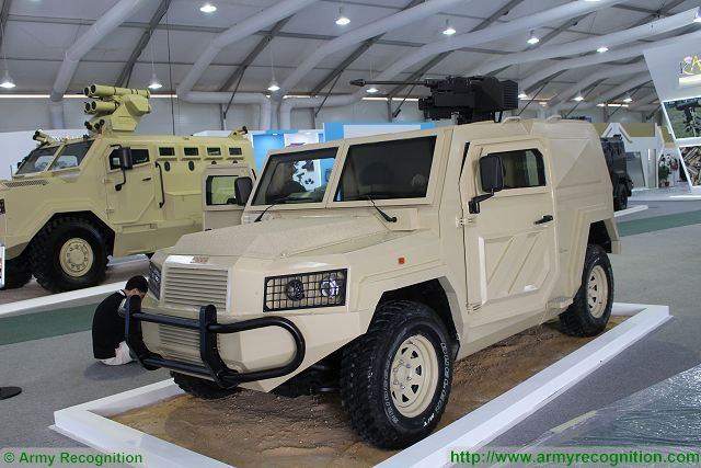 """At SOFEX 2016, the Special Forces Operations Exhibition in Amman, the Jordanian Defense Company KADDB (King Abdullah II Design and Development Bureau) unveils a new 4x4 light protected vehicle under the name of """"Al-Washaq""""."""