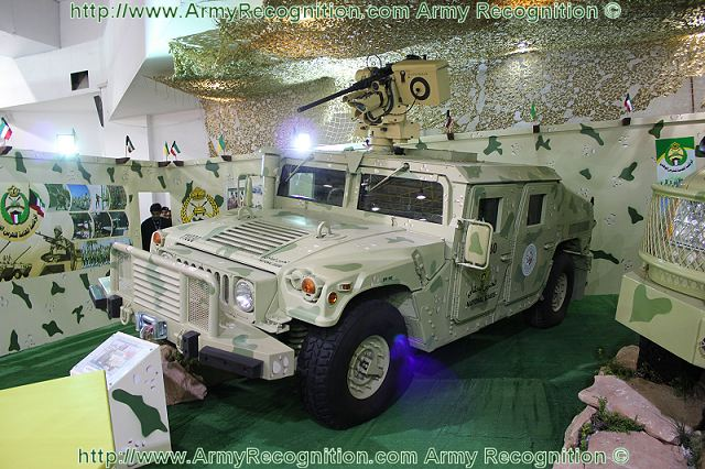 Humvee with remote weapon station Kuwaiti National Guard at GDA 2011