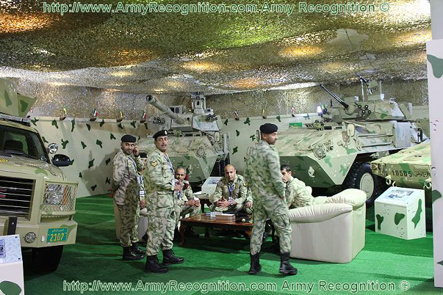 Kuwaiti National Guard soldiers at GDA 2011 Aerospace & Defence Exhibition