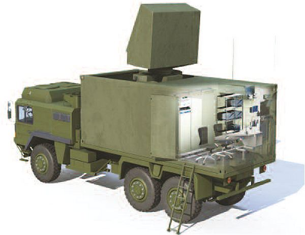 The second new system presented by MBDA is the PCP (Platoon Command Post). This modular command system is a direct derivative of the VL MICA Tactical Operations Centre (TOC) which has been developed in close cooperation with the French Air Force. PCP allows the commander to control multi-layer surface-to-air defence units, linking Mistral and VL MICA missile launchers. The system carries out the interface role between the various units responsible for coordinating the air space and, if necessary, its self-coordination with the PCP units deployed in neighbouring zones. The detection, identification and tracking functions are carried out via a link to the IMCP which, in this case, is completely remote-controlled by one of the three operators manning the PCP.