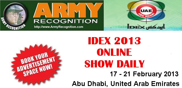 Your advertising in the online daily news IDEX 2013 Army Recognition