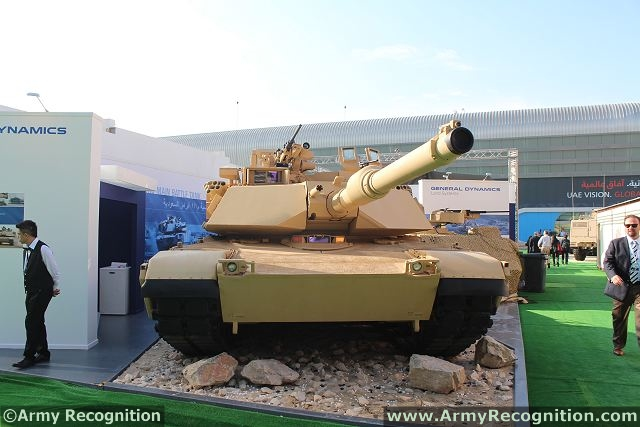 Main battle tanks Abrams M1A2 SEP M1A2S variants at IDEX