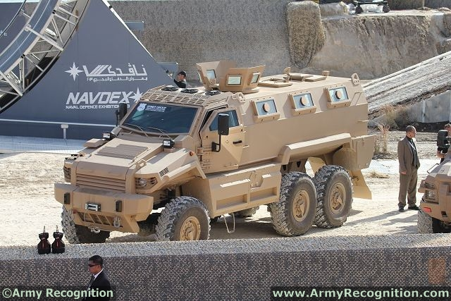 This brand new 6x6 variant of the Typhoon MRAP, manufactured entirely within the UAE, can be configured to carry up to 14 personnel. Powered by a Cummins 400 horse power engine with Alison 3200 5-speed automatic transmission, the Typhoon 6x6 is one of the most reliable vehicles in its class, offering blast and ballistic protection to STANAG 4 level