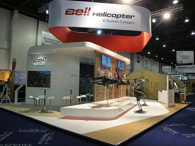 Exhibition Stand Builders Abu Dhabi : Textron businesses to showcase military commercial