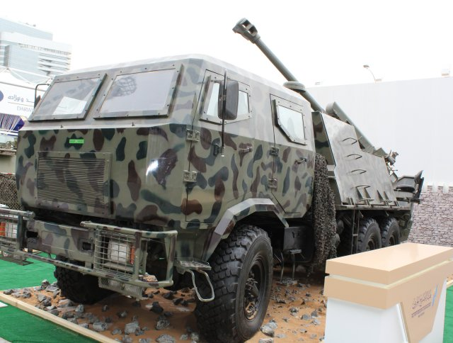 Military Industry Corporation s Khalifa 1 self propelled howitzer displayed for the first time at IDEX 001
