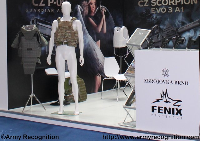 At IDEX 2015, CZ is not only showcasing weapons, but also Body Armor 640 001