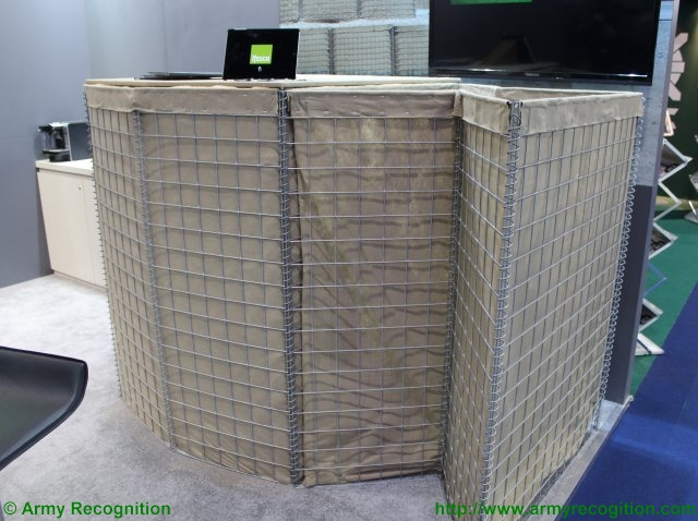 Hesco Group showcases its defensive barriers during IDEX 2015 640 001