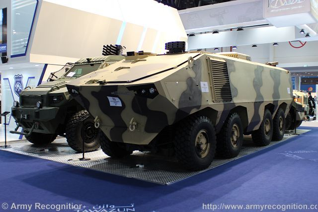 Matador 8x8 armoured vehicle personnel carrier IDEX 2015 defense exhibtion Abu Dhabi UAE 640 001