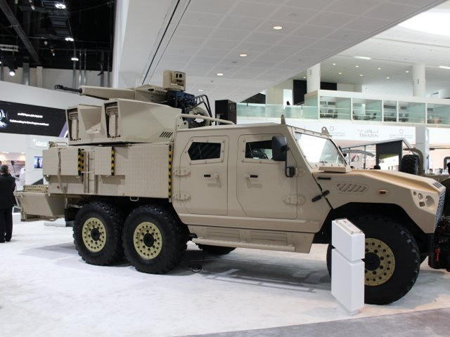 NIMR HAFEET 30mm Gun Truck presented at IDEX 2015 640 001