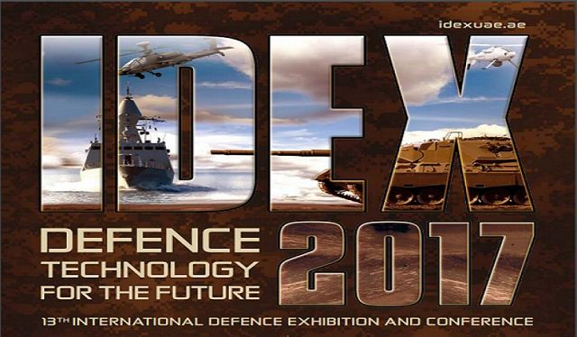 Every two years Abu Dhabi in UAE hosts the biggest Defense Exhibition in Middle East named IDEX 640 001