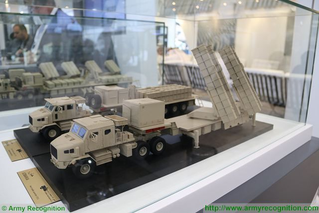 Al Jaber Land Systems from UAE presents new Jobaria 300mm TCL Twin Cradle Rocket Launcher IDEX 2017 001
