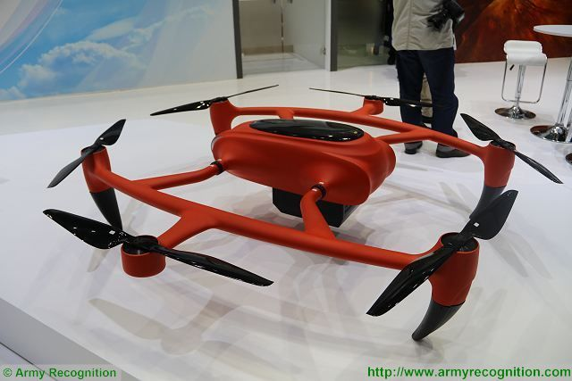 CATIC from China present the world first Hydrogen drone HyDrone 1800 at IDEX 2017 640 001