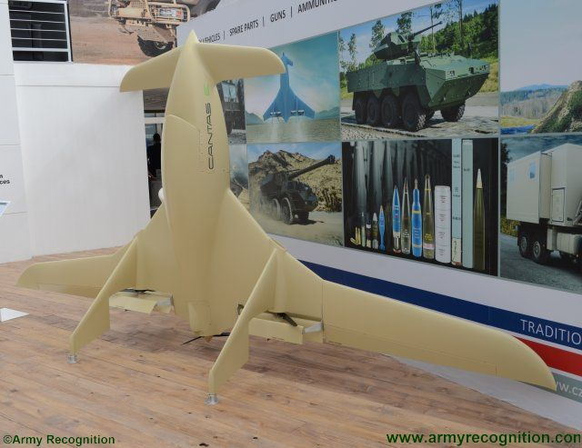 Excalibur International new CANTAS E VTOL UAV appears at IDEX 2017