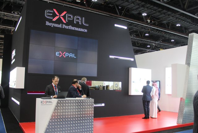 Expal exhibited its complete solution for mortar system at IDEX 2017 001
