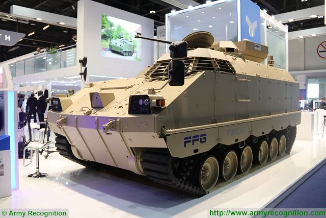 The German Company FFG with sophisticated solutions at IDEX 2017 The innovative tank manufacturer FFG based in the northern city of Flensburg in Germany, will be presenting its highly-efficient and impressive developments in the area of special armoured vehicles at this year's IDEX trade fair, including the PMMC G5 protected APC (Armoured Personnel Carrier) and the Wisent 2 ARV (Armoured Recovery Vehicle) or AEV (Armoured Engineer Vehicle)
