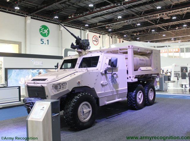 IDEX 2017 NIMR adds Hafeet 620A water tank vehicle to Hafeet family of 6x6 protected platforms 640 001