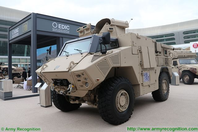 At IDEX 2017, in the outside exhibition area, NIMR Automotive showed five more vehicles including the JAIS 4x4 in APC (Armoured Personnel Carrier) configuration, the version that was recently used by UAE armed forces during combat operations.