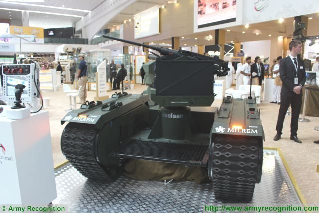 Milrem from Estonia exhibits its fully customizable UGV at IDEX together with IGG AEC and Raytheon 640 002
