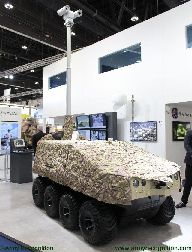 Rheinmetall new multi mission UGV 640 001