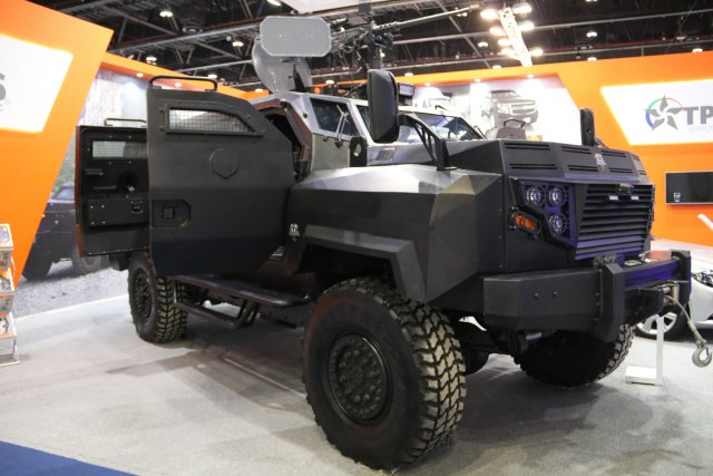 TPS Armoring unveils the Black Mamba Light Armored Vehicle during IDEX 2017 640 001