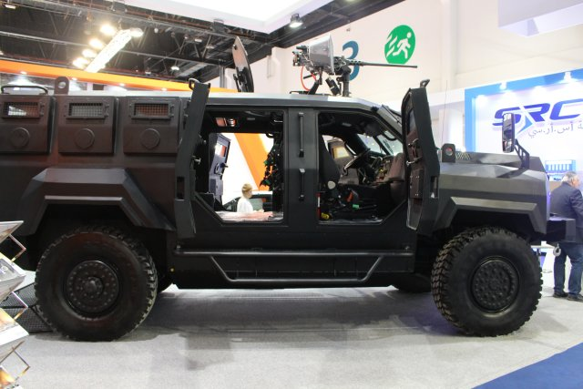 TPS Armoring unveils the Black Mamba Light Armored Vehicle during IDEX 2017 640 002