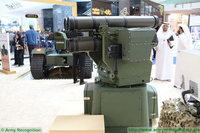 Turkish Aselsan missile launching system can integrate a full range of anti tank guided missiles IDEX 2017 640 001
