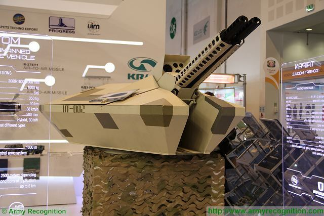 At IDEX 2017, the Ukrainian Defense Company Spets Techno Export presents the Taipan Combat Module, a new concept of light unmanned weapon station providing high accuracy and fire power. The Taipan turret can be easily integrated on wheeled or tracked armourd vehicles.