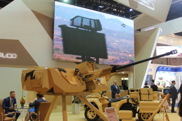 Uralvagonzavod (UVZ) unveiled a full-scale mockup of the 30-mm remote-controlled fighting module. For the first time, it will display a full-scale 30-mm remotely controlled fighting module designed to seek for, acquire and engage individual and multiple targets at any time of day or night. It will be mounted on an all-terrain vehicle.