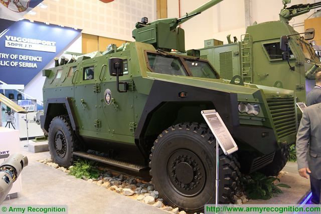 At IDEX 2017, the International Defence Exhibition in Abu Dhabi (UAE), the Serbian state Defense Company Yugoimport unveils the Milosh, a new 4x4 armoured vehicle personnel carrier fully designed and developed in Serbia.