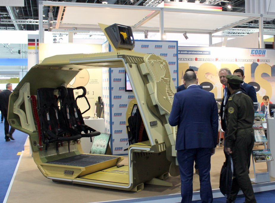 IDEX 2019 Greek company EODH unveils details about its new Advanced Shielding Platform Integrated System ASPIS2