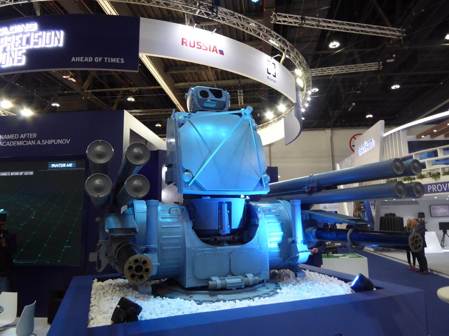 IDEX 2019 Rostec unveils naval version of Pantsir ME air defense missile and gun system 1