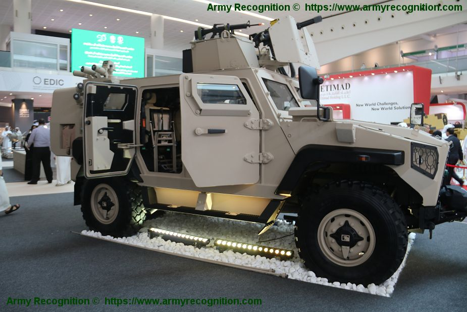 NIMR Launches new AJBAN 447A Multi Role Armoured Vehicle at IDEX 2019 defense exhibition in Abu Dhabi 925 001