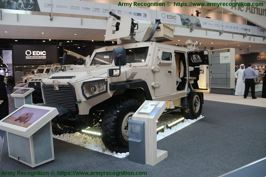 NIMR Launches new AJBAN 447A Multi Role Armoured Vehicle at IDEX 2019 defense exhibition in Abu Dhabi 925 002