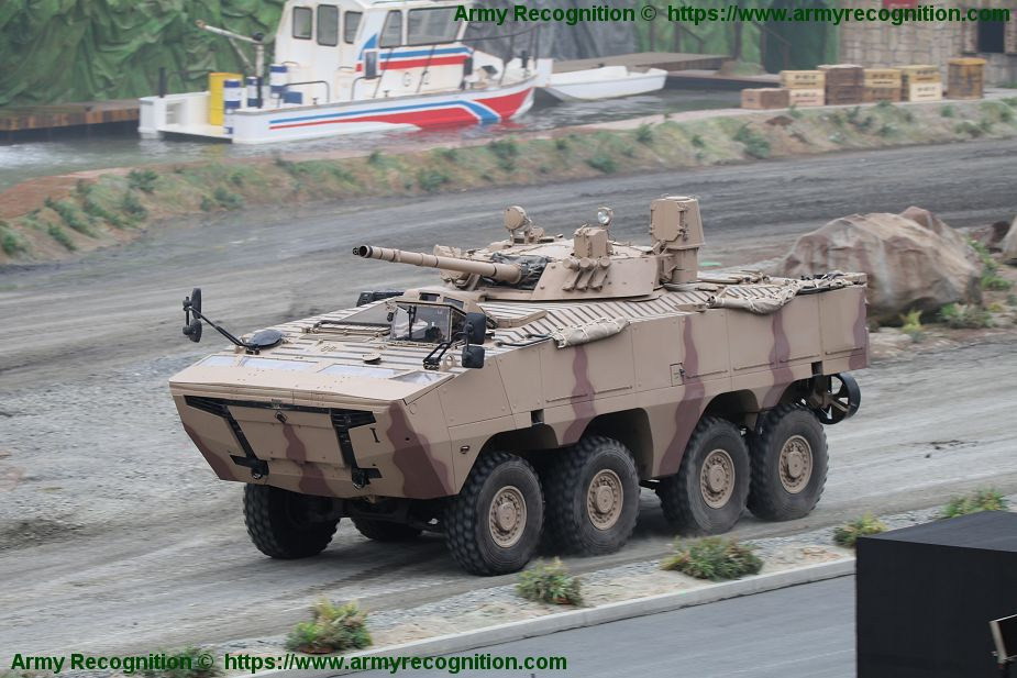 RABDAN 8x8 IFV with BMP 3 turret in service with UAE armed forces IDEX 2019 Abu Dhabi defense exhibition 925 001