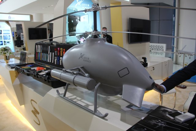 Discover-the-Sky-saker-H300-unmanned-helicopter-at-Norincos-stand-ISNR-2016