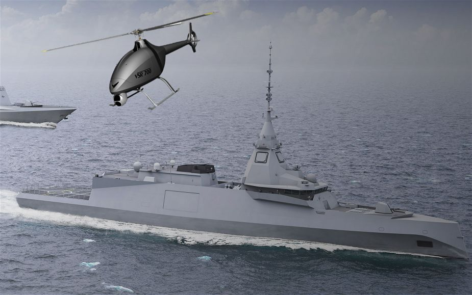 Naval Group demonstrates its expertise as drone integrator VSR 700 drone helicopter Airbus 925 001