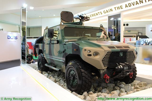 Ajban 440A 4x4 protected patrol military vehicle 4 man armoured cab Nimr Automotive UAE United Arab Emirates defense industry 640 001