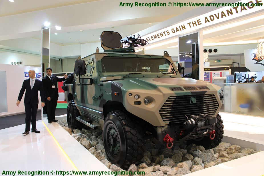 Ajban 440A 4x4 protected patrol military vehicle 4 man armoured cab Nimr Automotive UAE United Arab Emirates defense industry 925 001