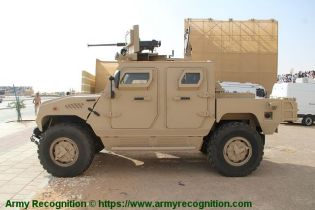 Ajban Class 440A 4x4 wheeled light tactical protected vehicle United Arab Emirates left side view 001